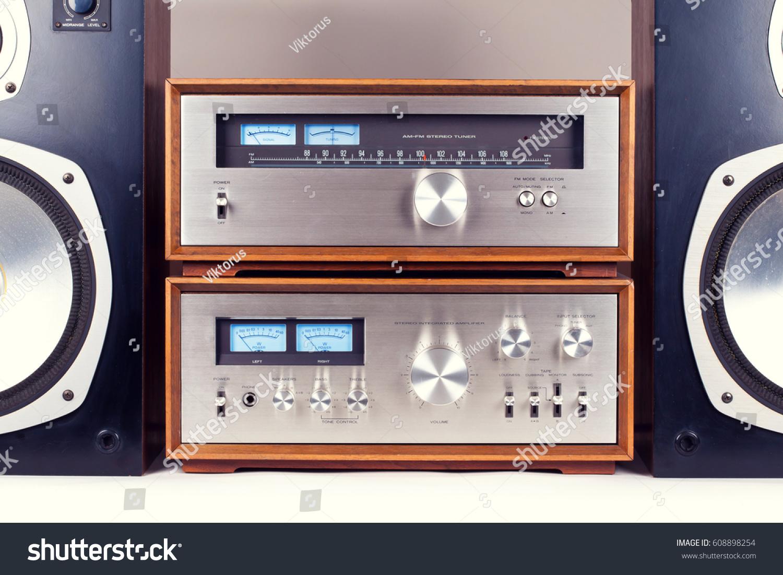 Amplifier Tuner Speakers Stereo Vintage Audio Stock Photo Edit Now System Retro Set
