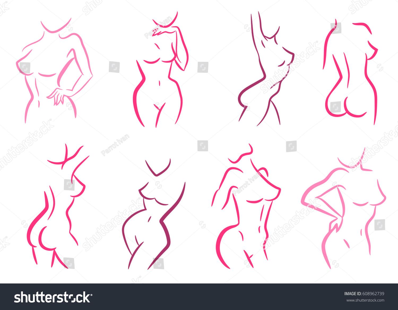 silhouette Nude women