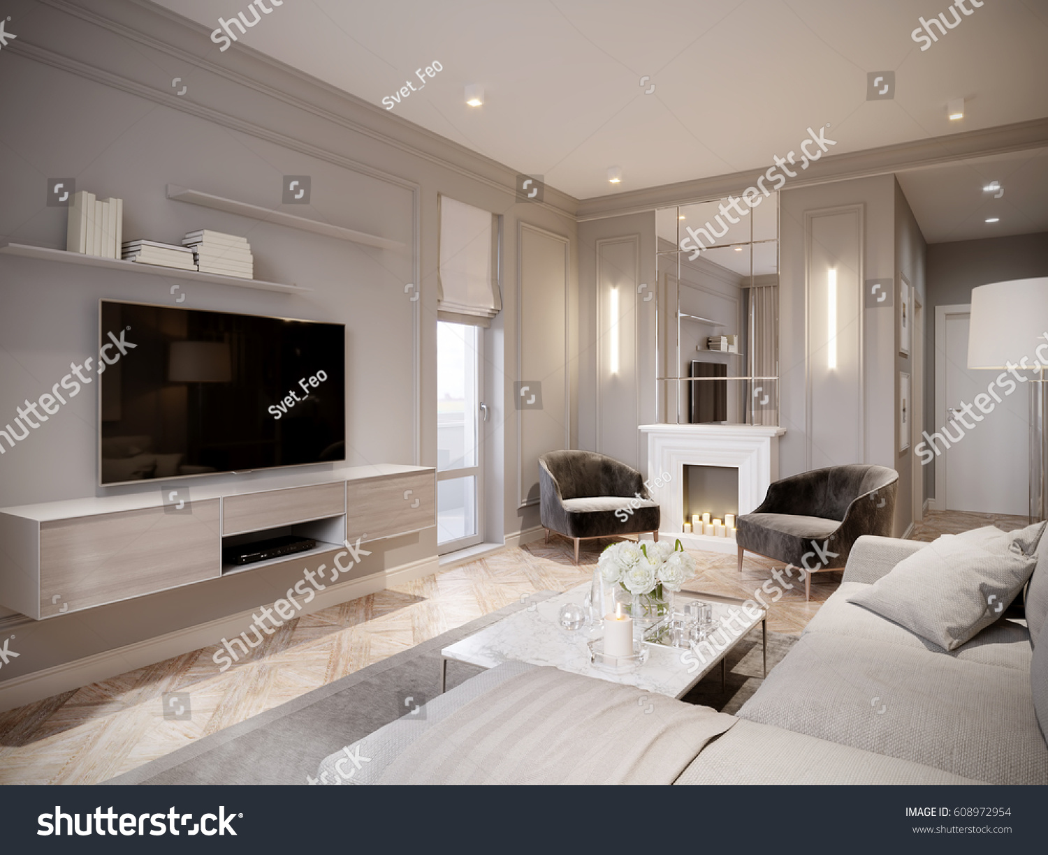 Design Beige Room modern beige gray living room interior stock illustration design with large light sofa white fireplace with