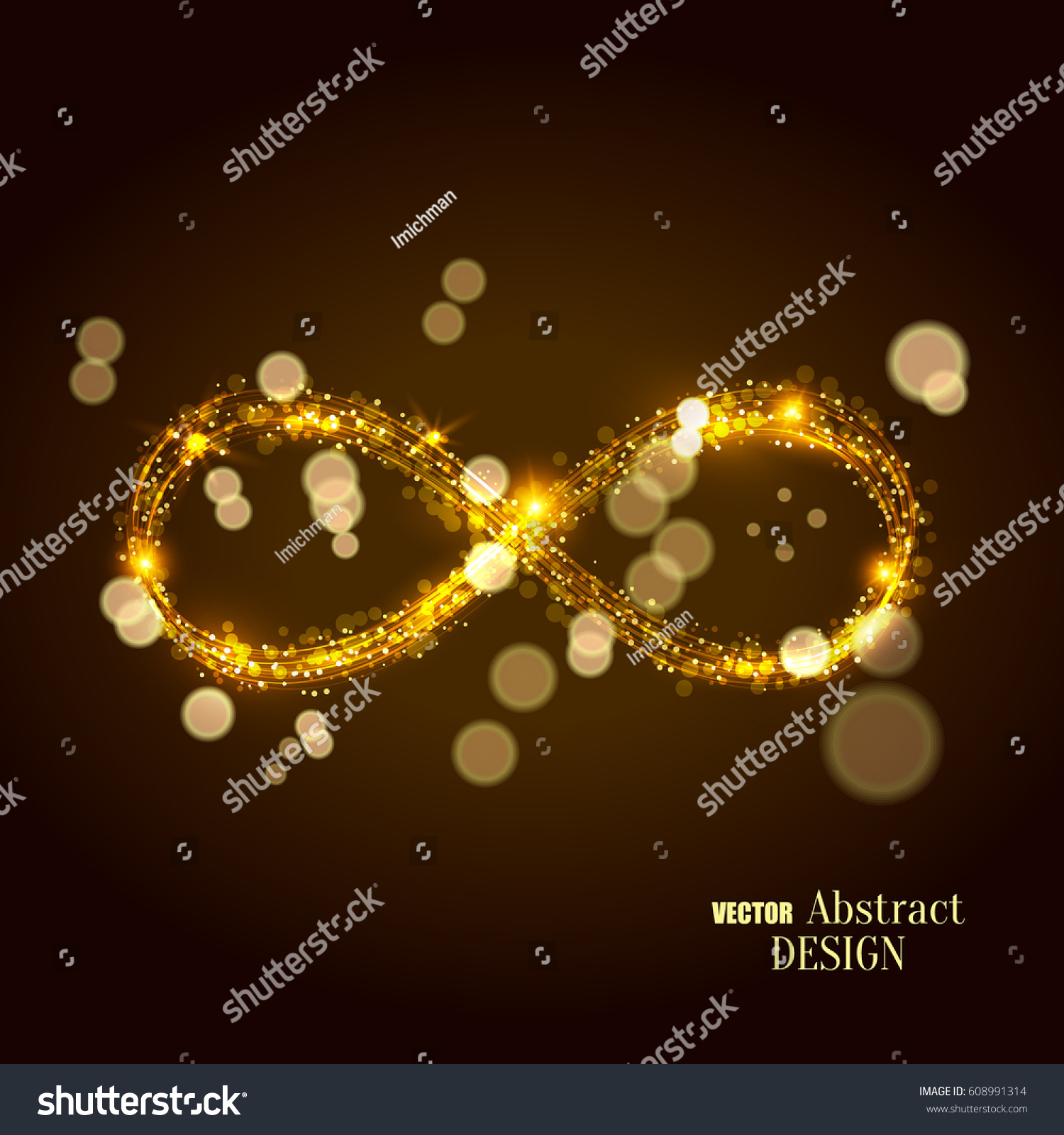 Shining Infinity Symbol Abstract Background Infinity Stock Vector