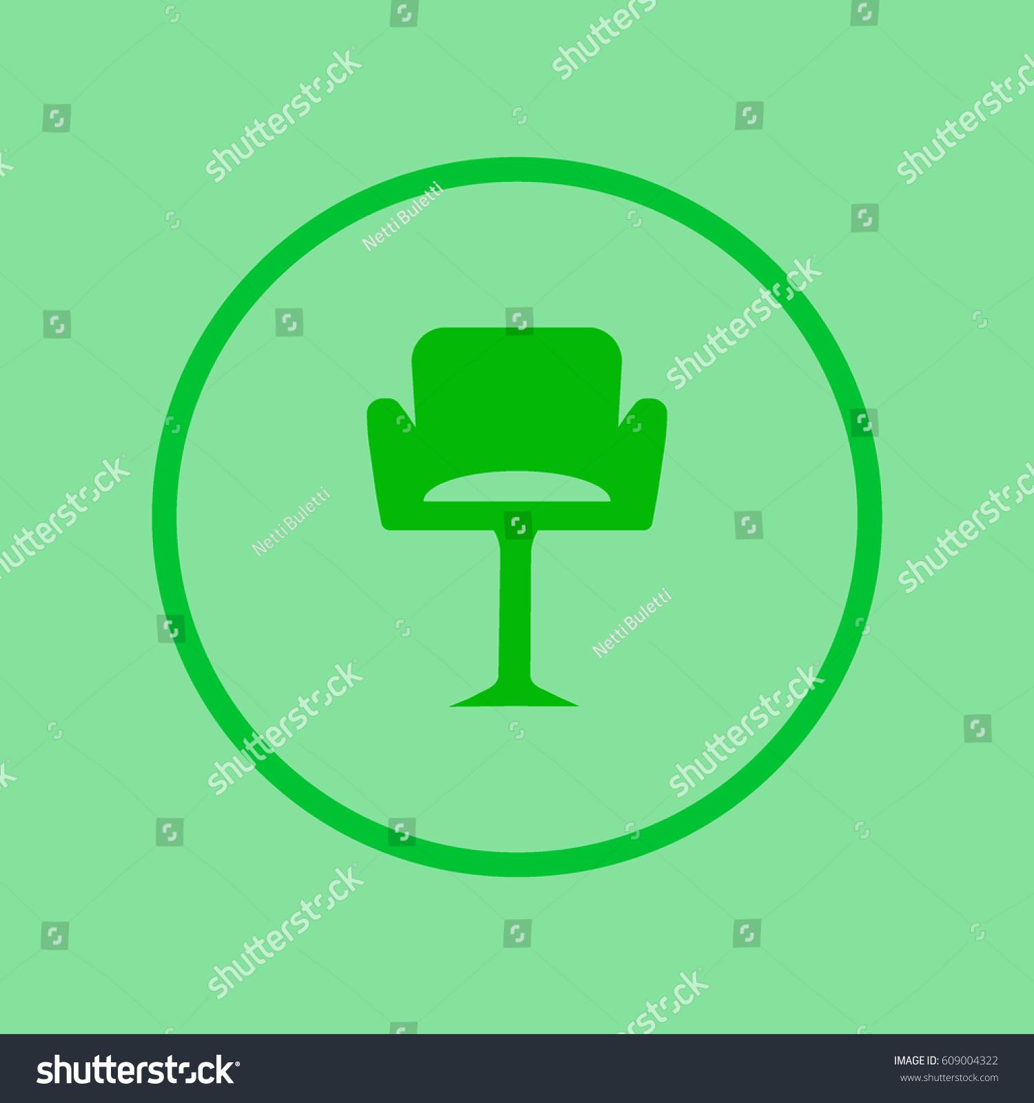 Chair On High Leg Stock Vector 609004322 Shutterstock