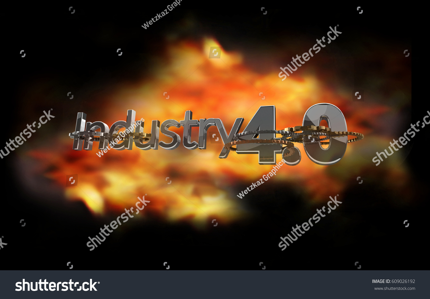 Industry 40 fire flames explosion 3d stock illustration 609026192 industry 40 fire flames explosion 3d rendering symbol buycottarizona