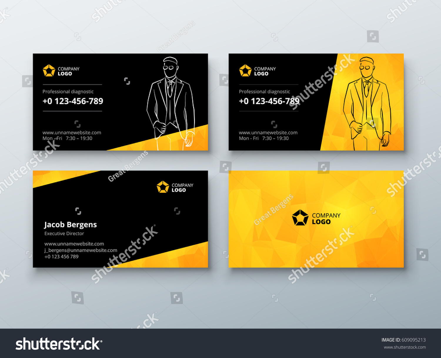 Yellow Business Cards Gallery - Free Business Cards