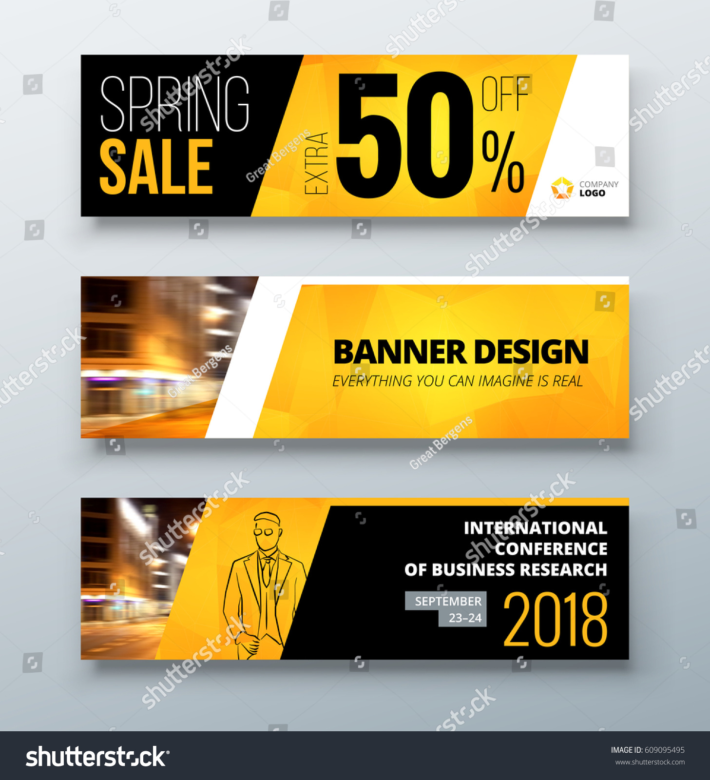 banner template design presentation concept black stock vector, Presentation templates