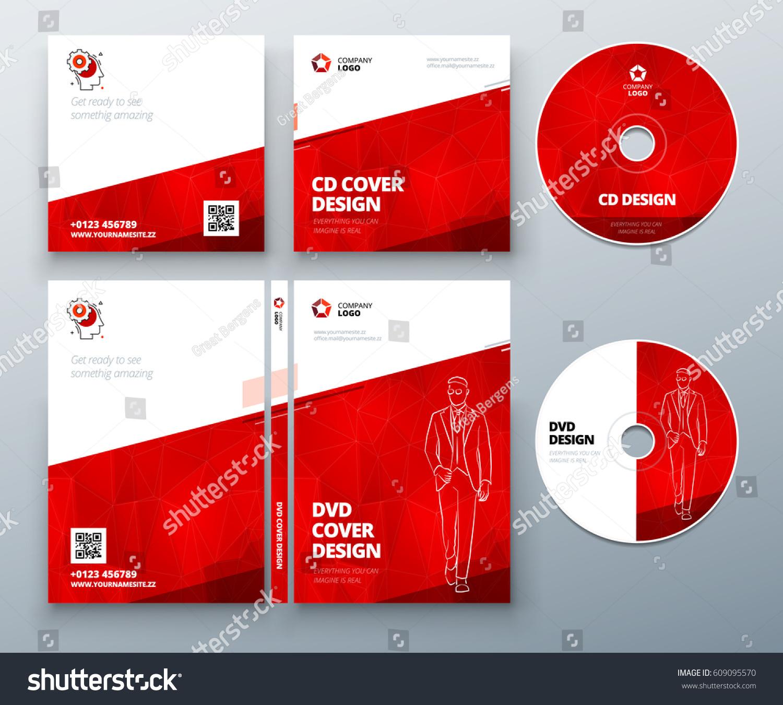 CD Envelope DVD Case Design Red Stock Vector 609095570 - Shutterstock