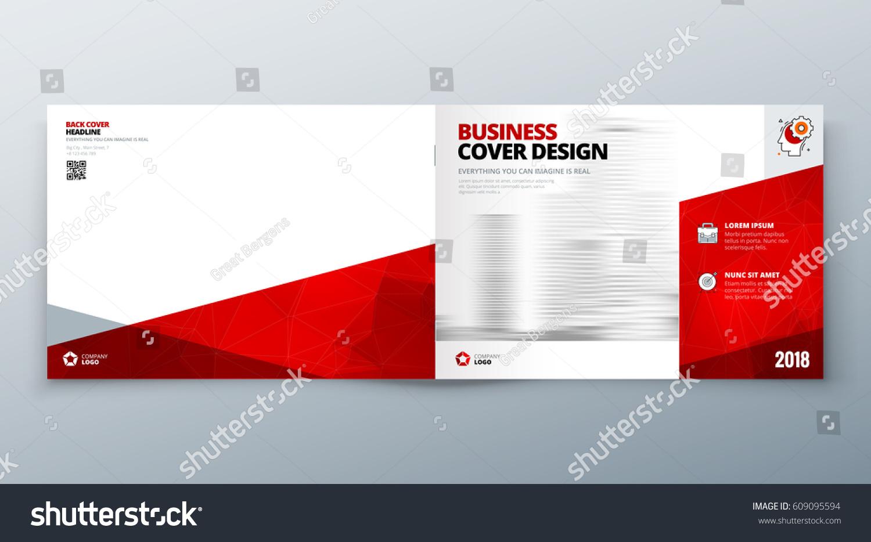 landscape brochure design red corporate business のベクター画像素材