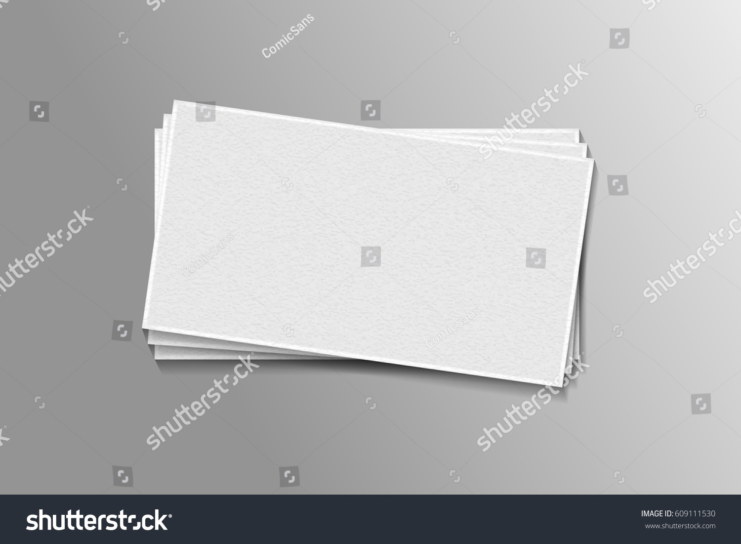 Vector Realistic Isolated Pile Business Cards Stock Vector 609111530 ...