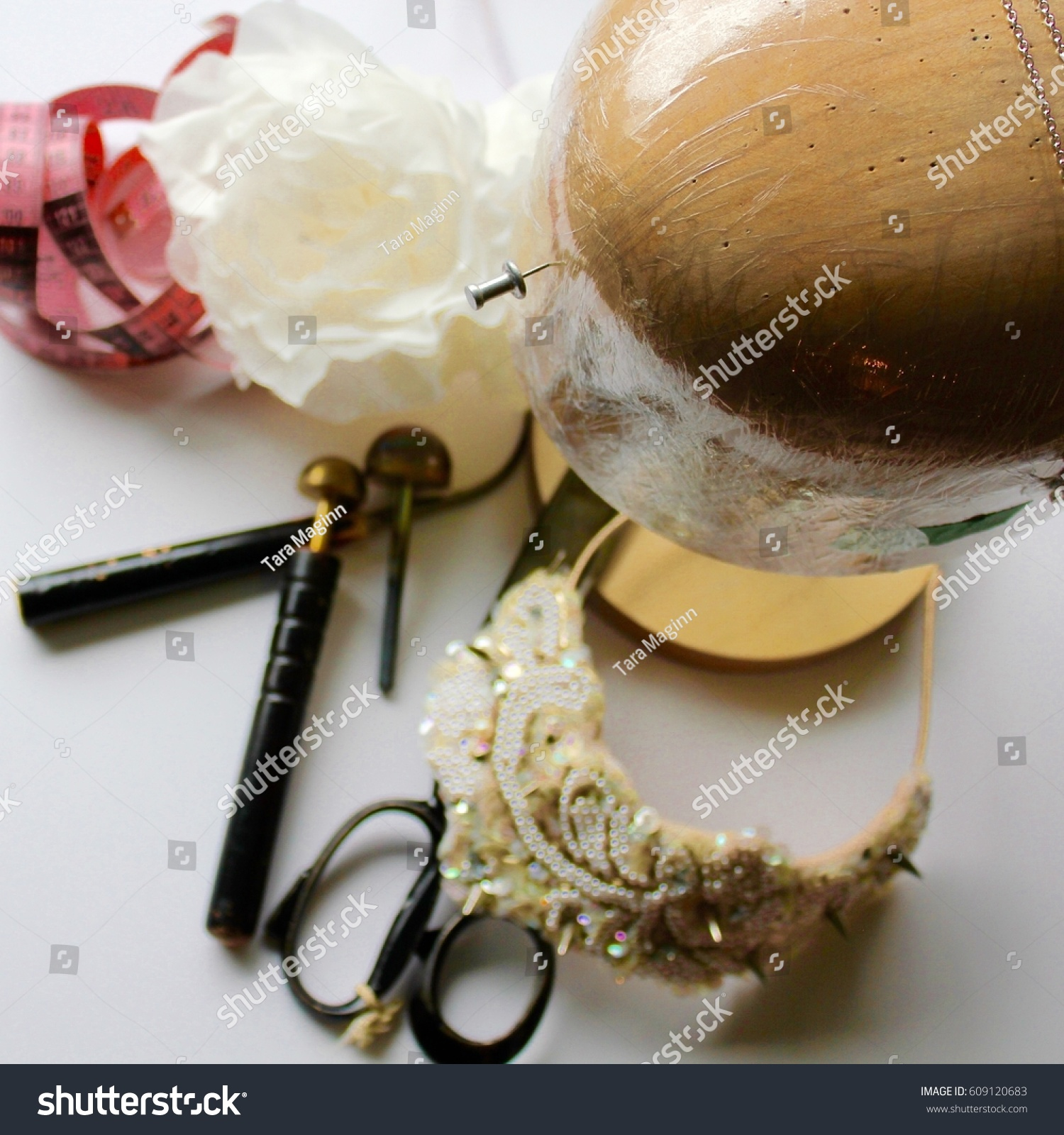 Millinery Tools Silk Flower Stock Photo Edit Now 609120683