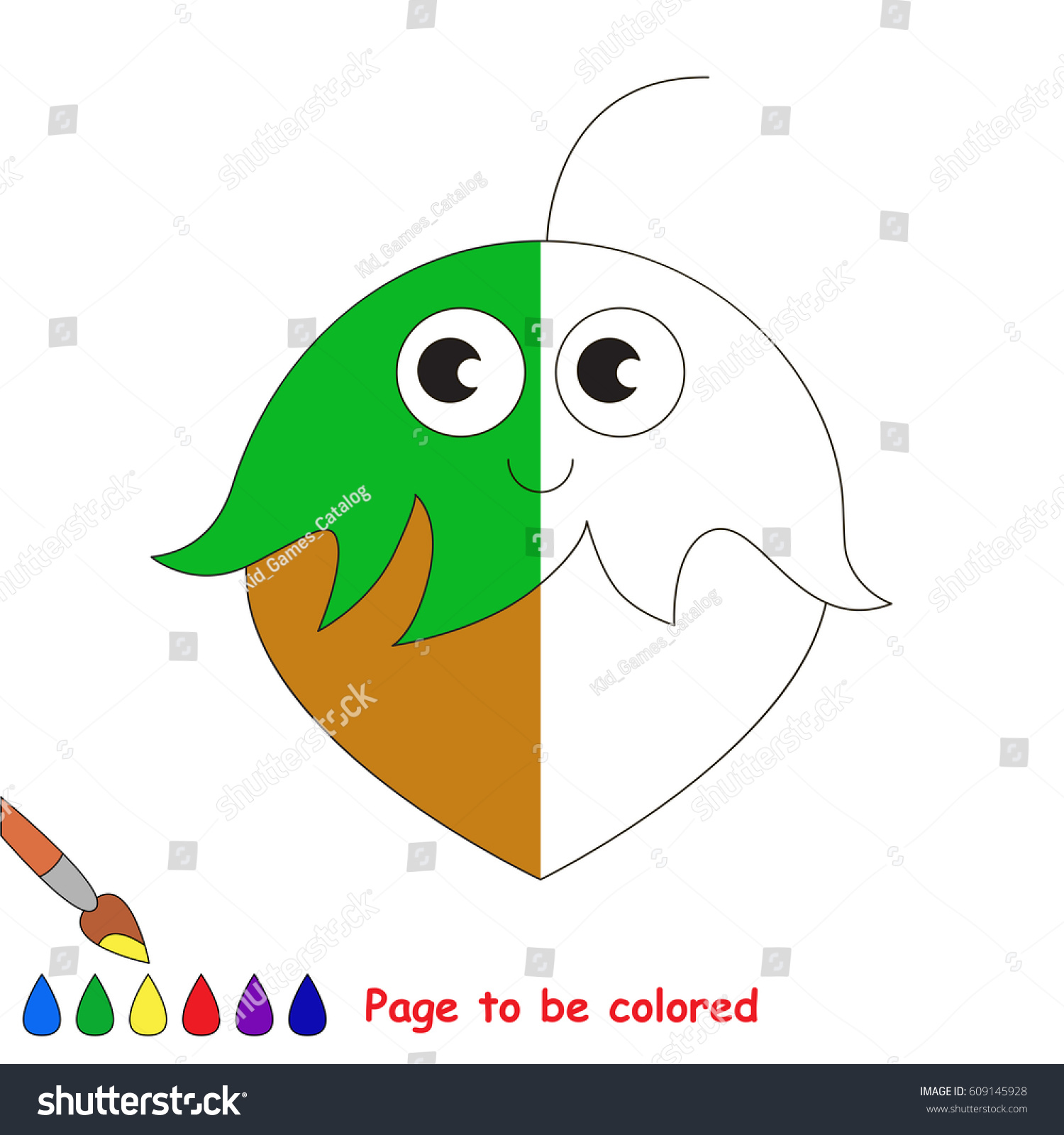 Hazelnut Coloring Book Educate Preschool Kids Stock Vector 609145928 ...