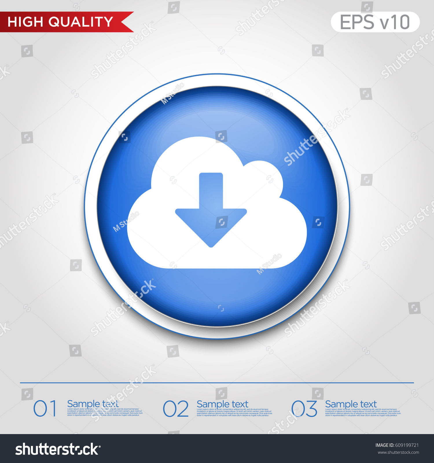 Colored icon button download cloud symbol stock vector 609199721 colored icon or button of download from cloud symbol with background biocorpaavc Gallery