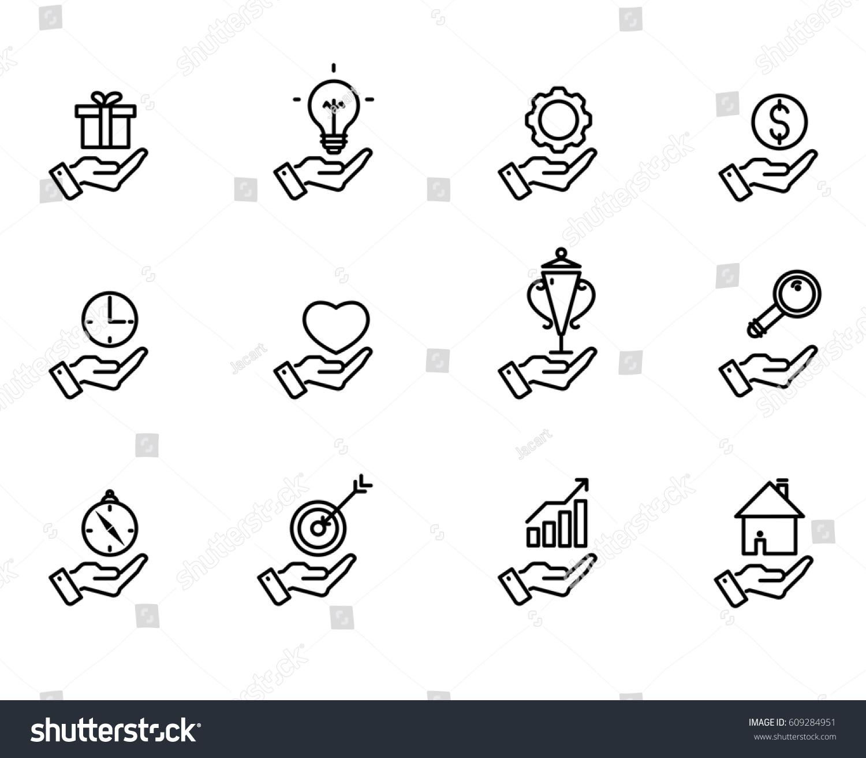 Symbols examples ingig diagram exchange concept of marketing hand concept icons examples symbols business stock vector stock vector hand concept icons examples of symbols for business ideas infographics presentations buycottarizona