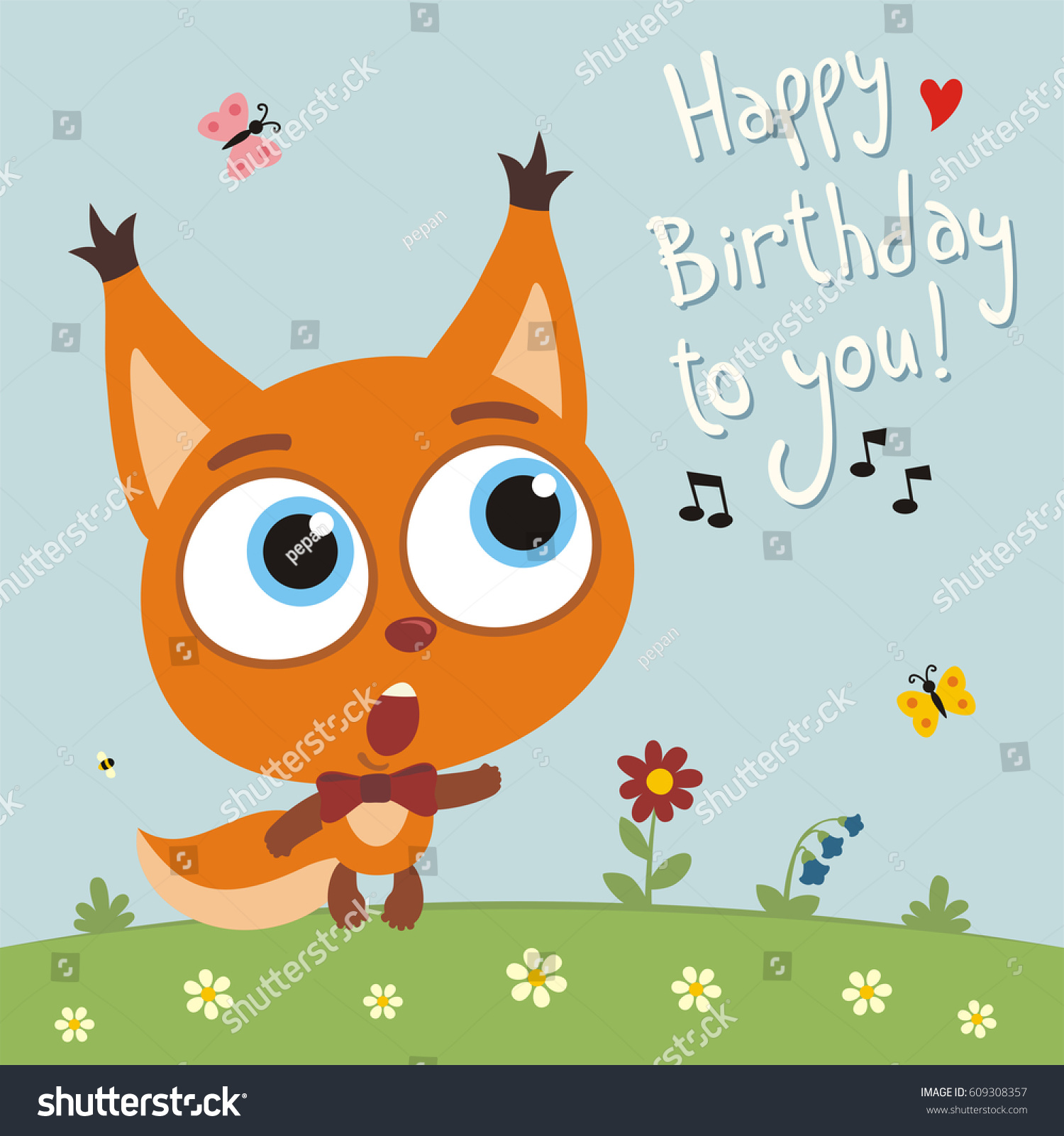 Funny squirrel sings song happy birthday stock vector royalty free funny squirrel sings song happy birthday to you greeting card m4hsunfo