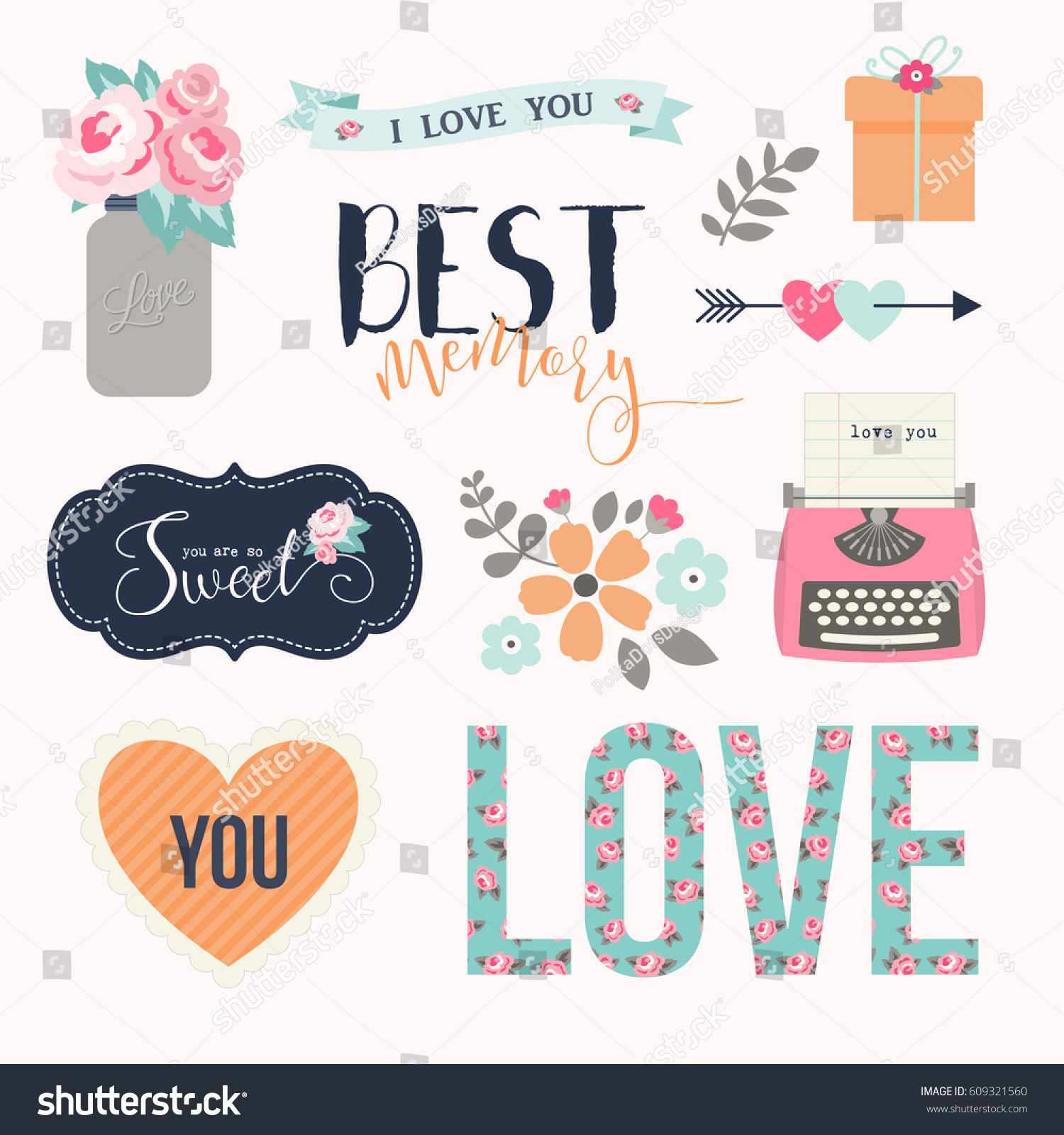 Love Stickers Signs Symbols Objects And Templates For Planners