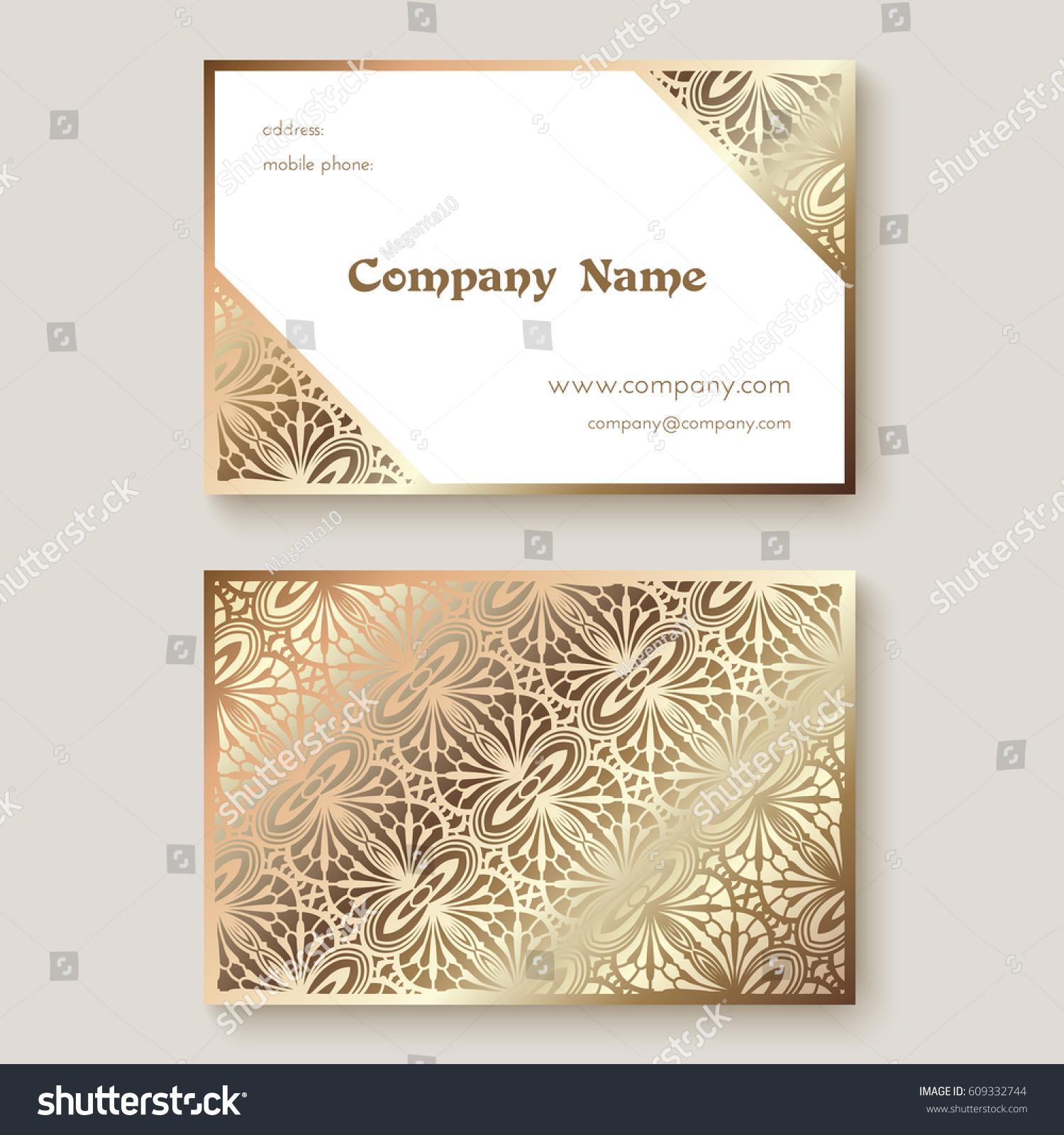 gold business card metallic foil texture stock vector
