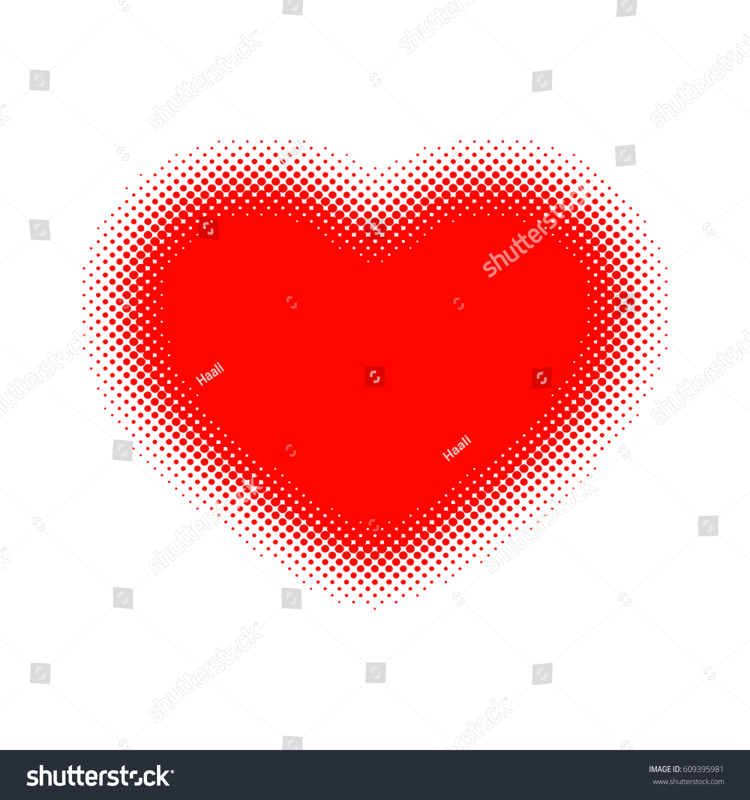 Red heart halftone vector illustration abstract stock vector red heart halftone vector illustration abstract dots heart as a symbol of love biocorpaavc Images