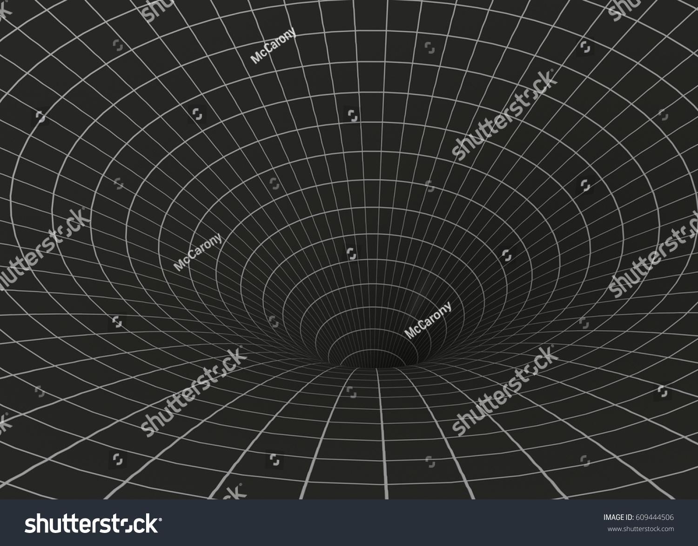 Curvature spacetime 3d stock illustration 609444506 for Space time curvature