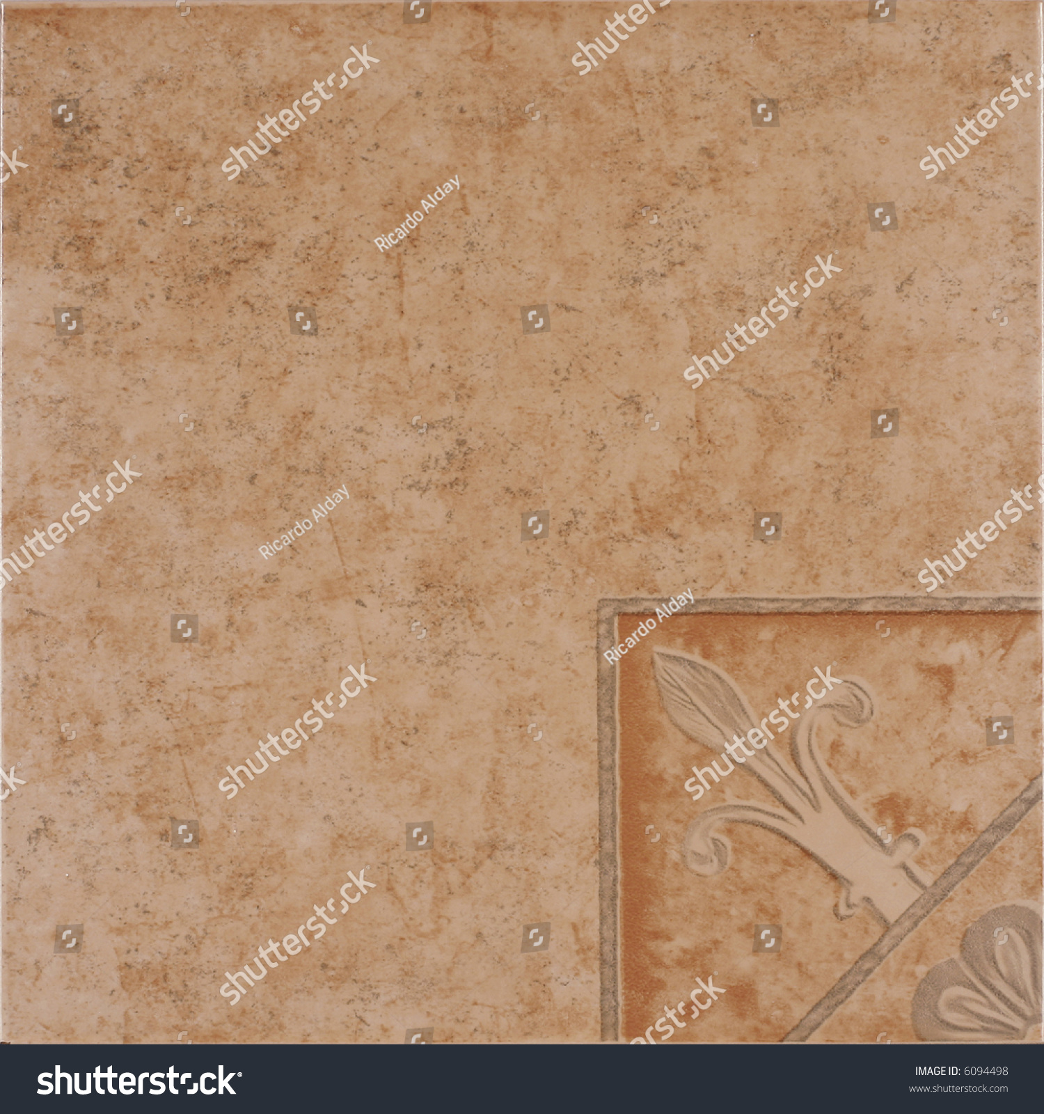 Rustic ceramic tile floral decoration stock photo 6094498 rustic ceramic tile with floral decoration dailygadgetfo Gallery
