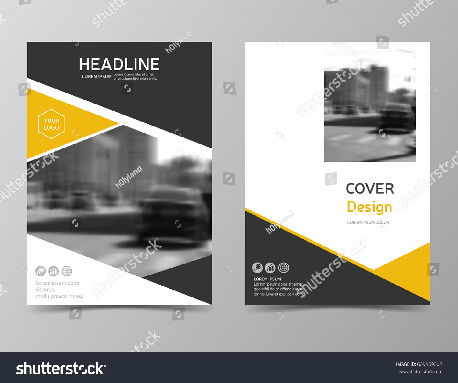 yellow annual report cover modern brochure design corporate identity brochure template leaflet template