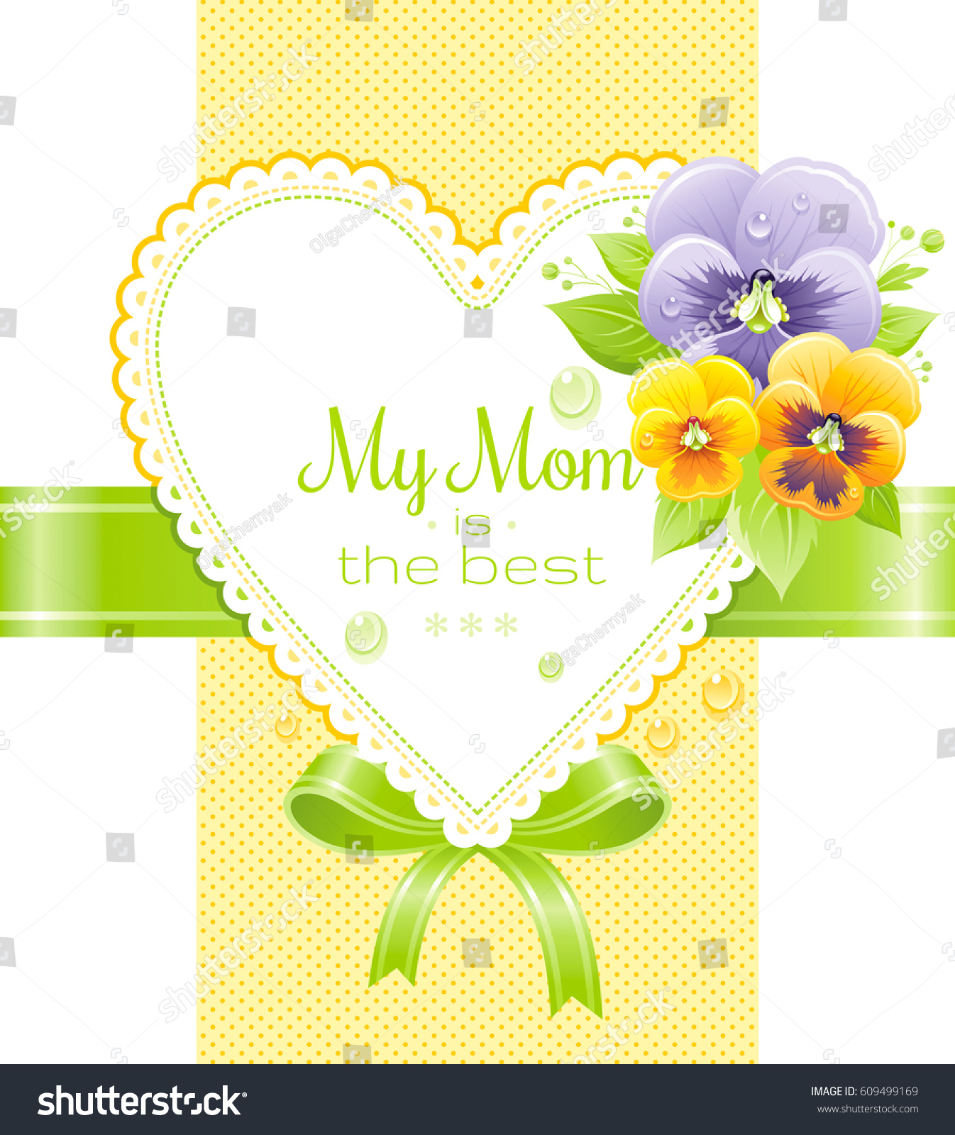 My mom best greeting card mothers stock vector 609499169 my mom is the best greeting card for mothers day holiday elegant design violet kristyandbryce Image collections