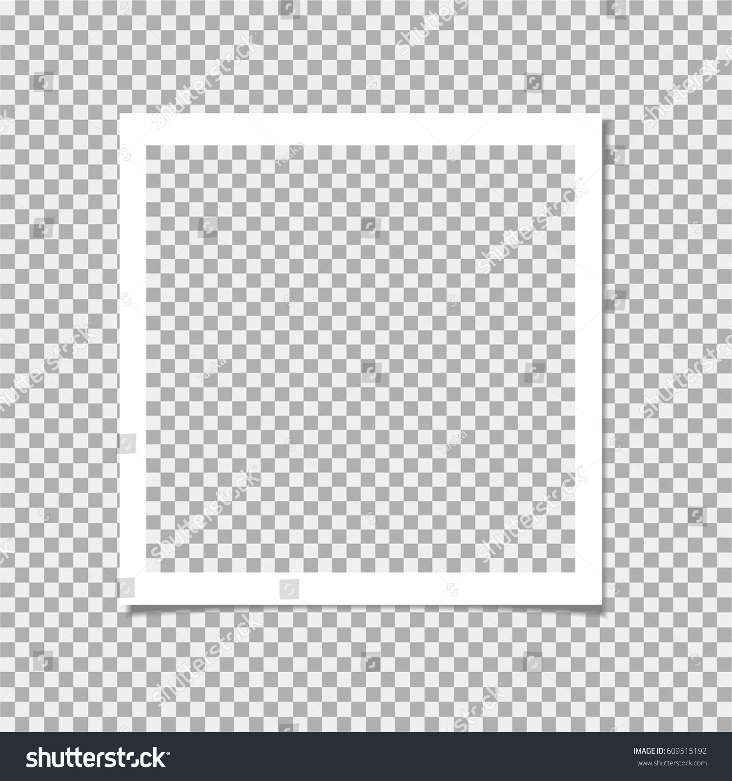 Photo Frame Shadow On Isolate Background Stock Vector 609515192 ...