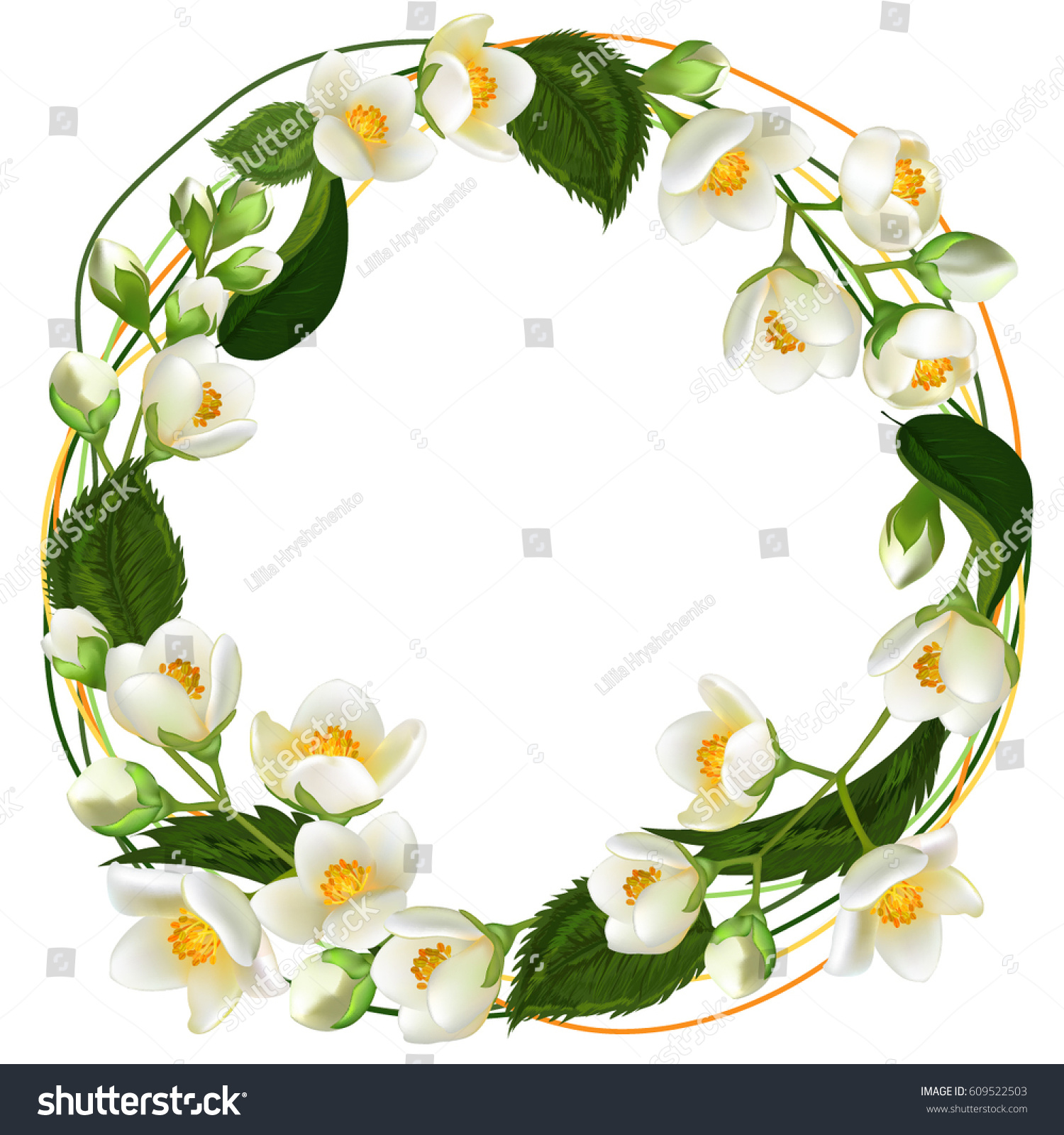 Blooming Flowers Vector Illustration