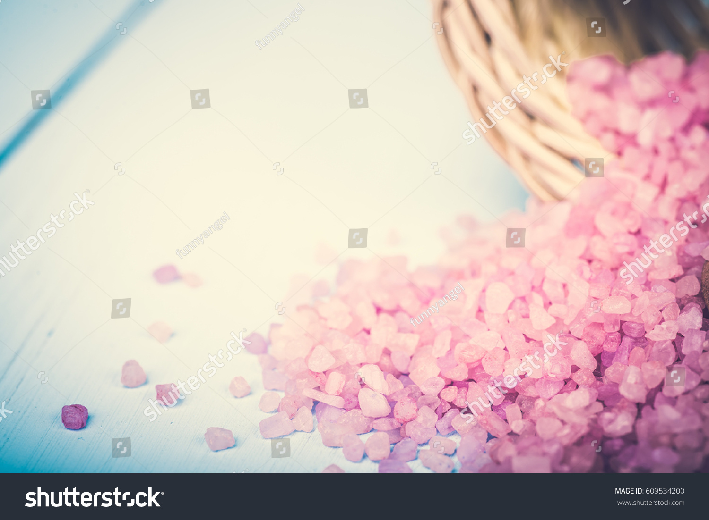 Spa sea salt bath natural health stock photo 609534200 for A fresh start beauty salon