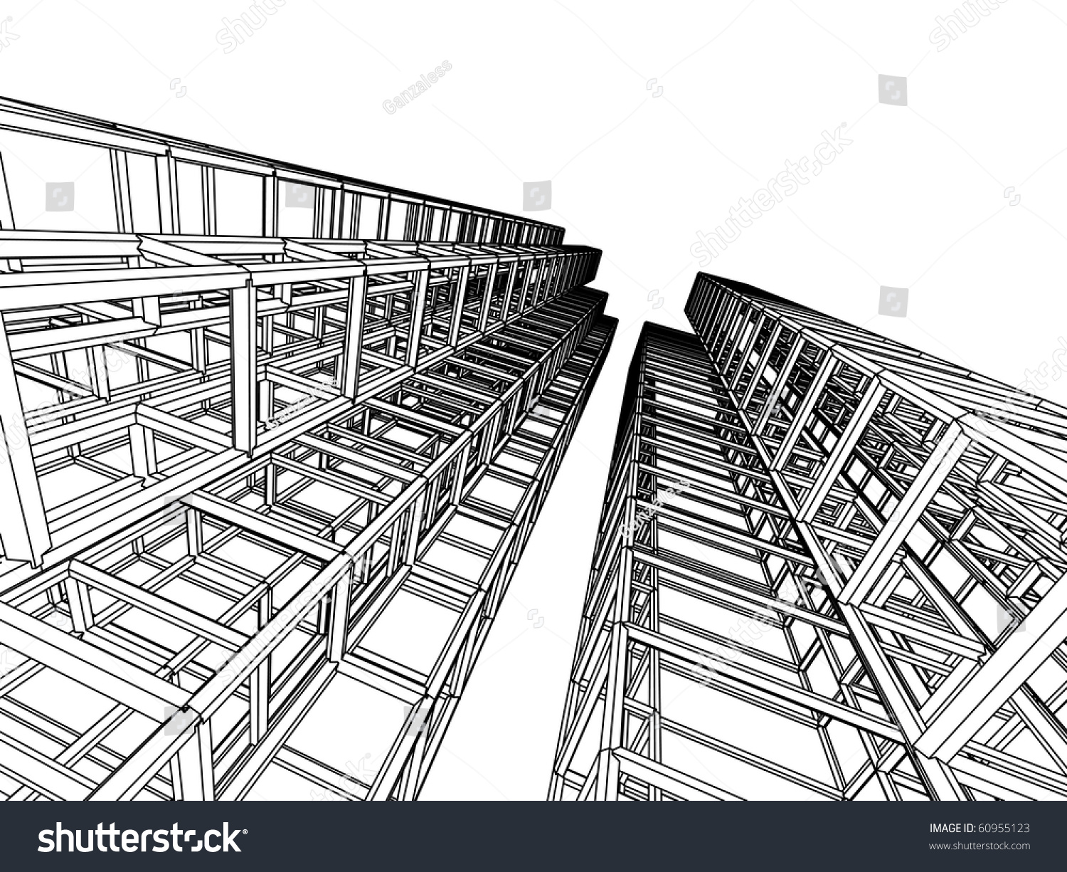 Sketch Of An Abstract Architecture Stock Vector ...