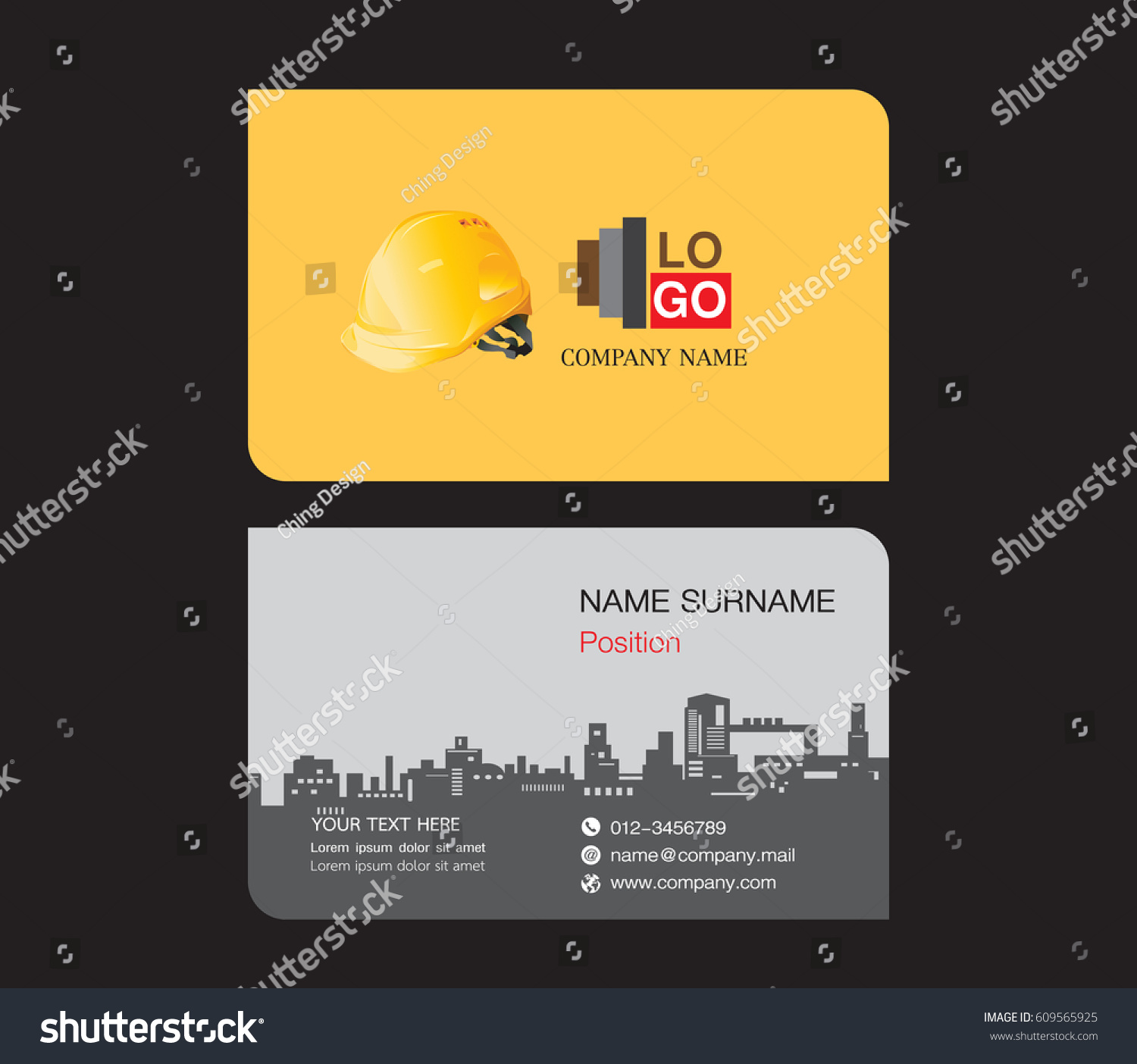 Business card template engineer name card stock vector 609565925 business card template engineer name card magicingreecefo Image collections