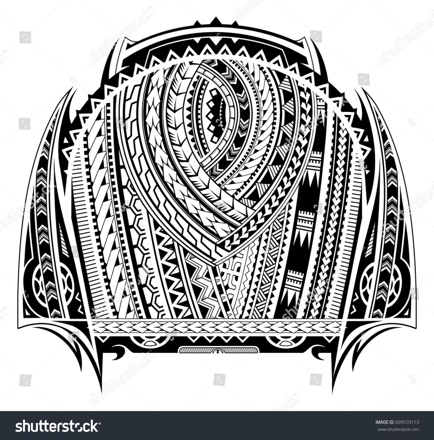 Maori style tattoo good chest sleeve stock vector for Vector tattoo sleeve