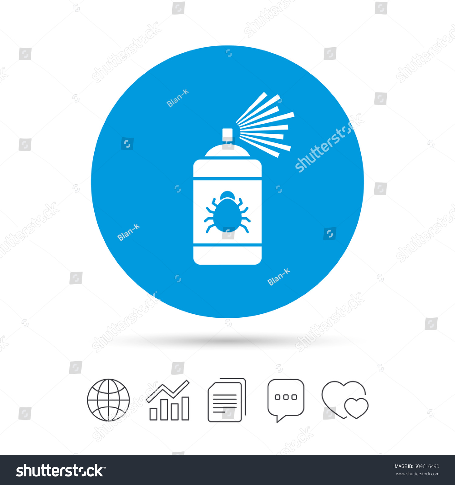 Bug Disinfection Sign Icon Fumigation Symbol Stock Vector Royalty