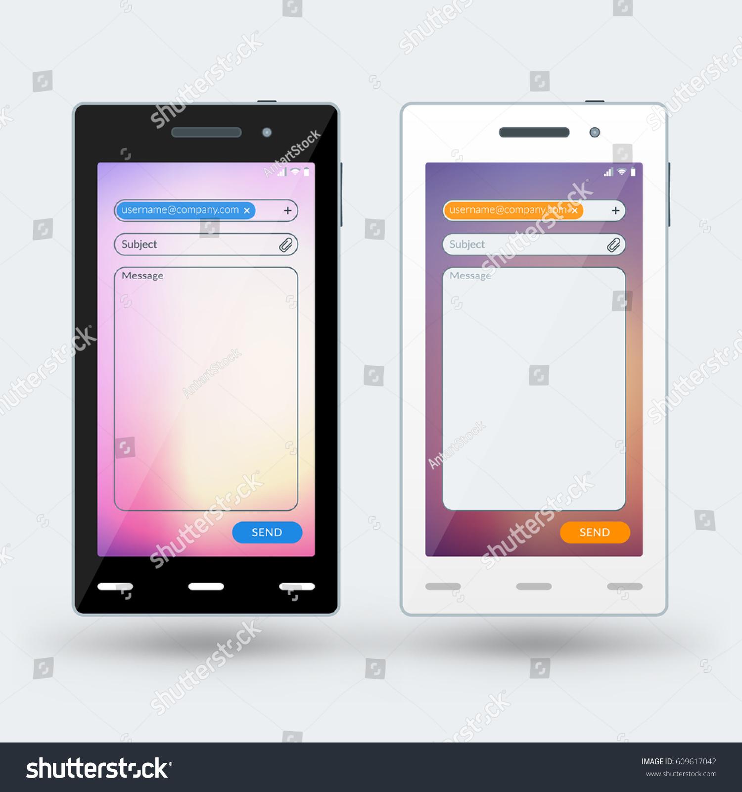 Charmant Designvorlage Für Mobile Apps Ideen - Beispiel Business ...