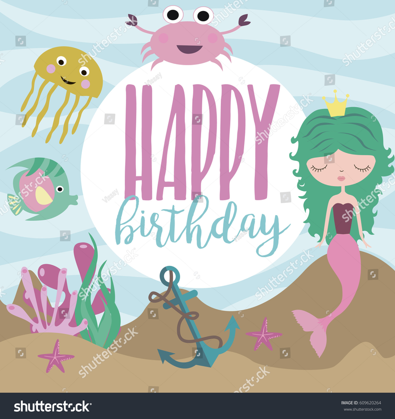 happy birthday greeting invitation card template のベクター画像素材