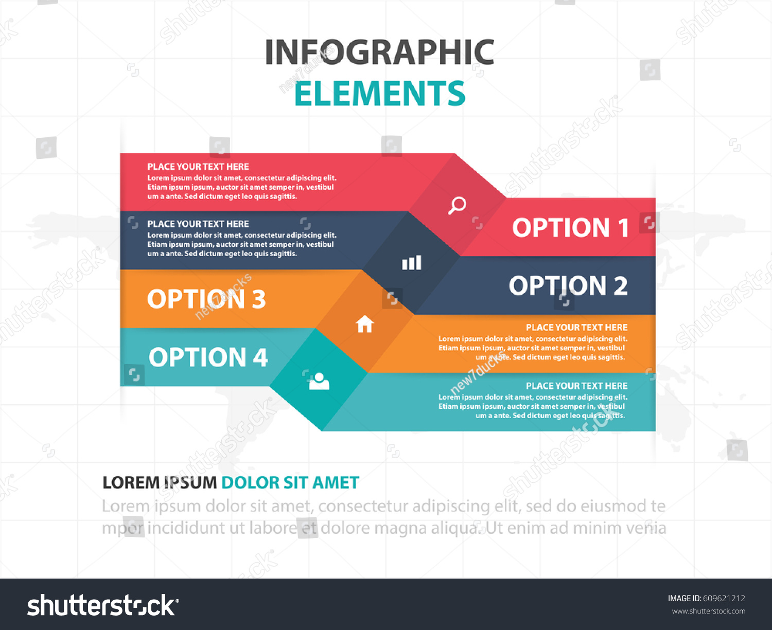 Abstract Colorful Label Business Timeline Infographics – Advertising Timeline Template