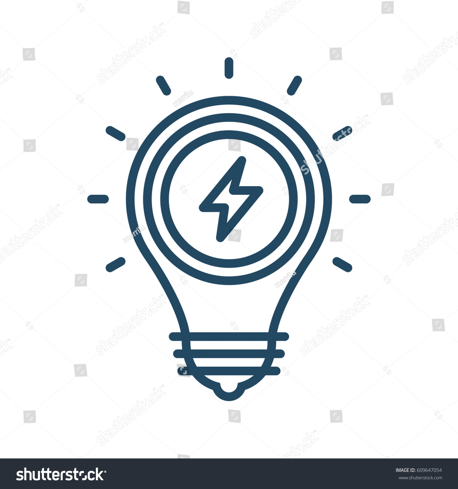 Flash Sign Inside Light Bulb Vector
