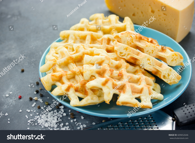 Savory Cheese Waffles Stock Photo 609652646 - Shutterstock