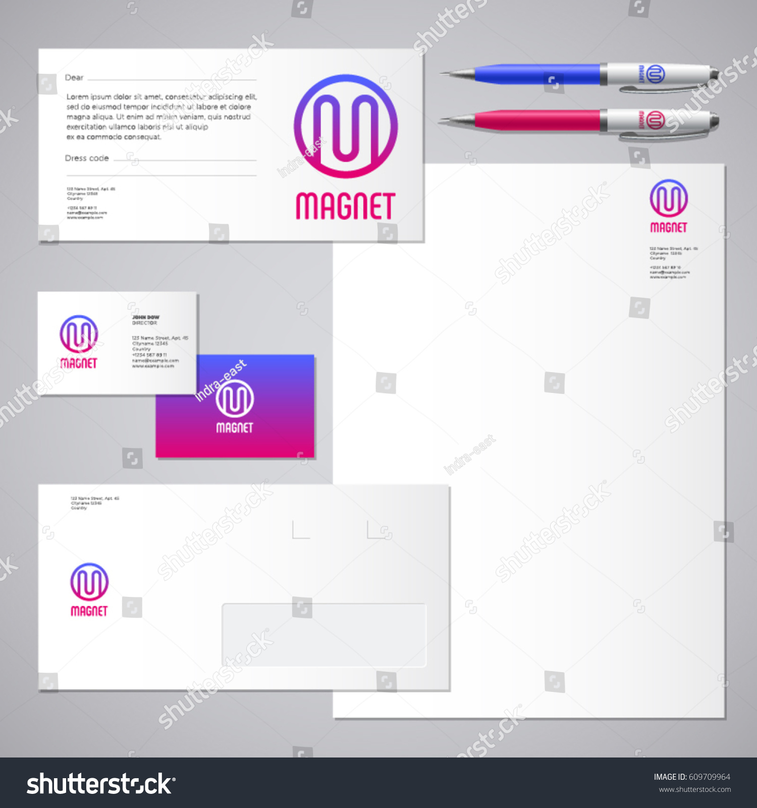 Magnet Logo M Letter Industrial Work Stock Vector 609709964 ...