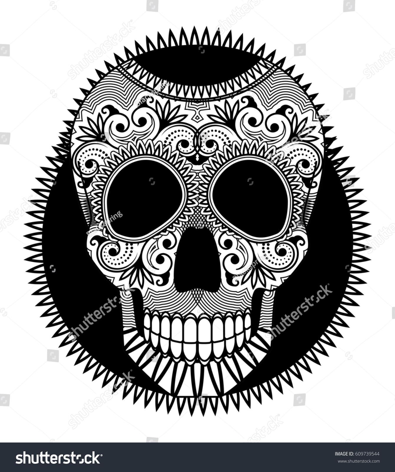 Sugar skull symbol day dead dia stock illustration 609739544 sugar skull the symbol of day of the dead dia de los muertos biocorpaavc