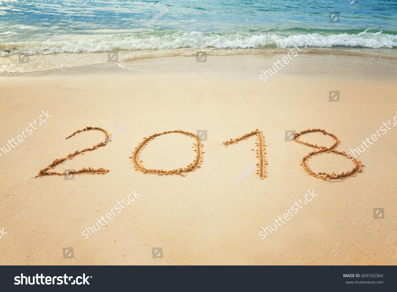 vacation 2018 new years celebration on stock photo