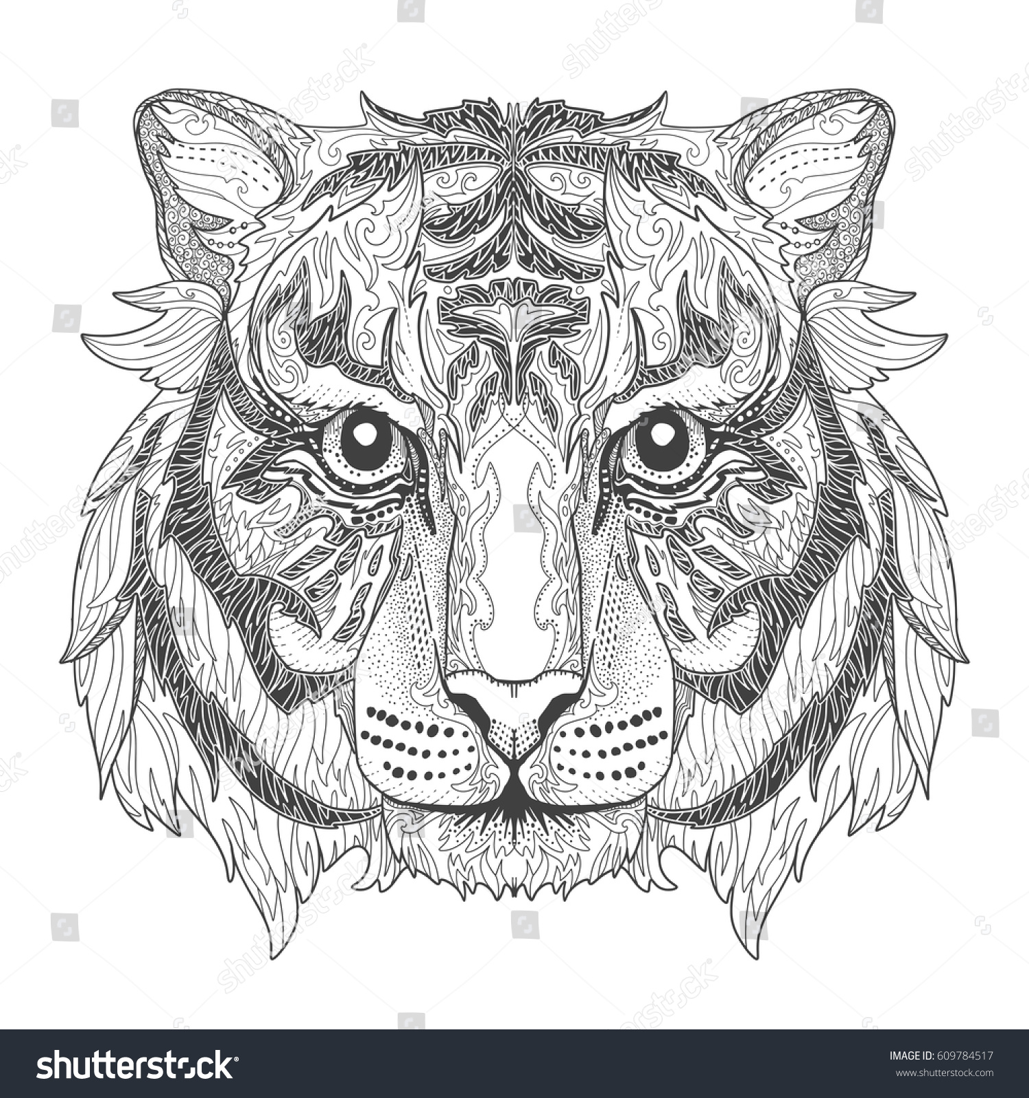 Tigers Printable Adult Coloring Page from Favoreads | Etsy | 1600x1500