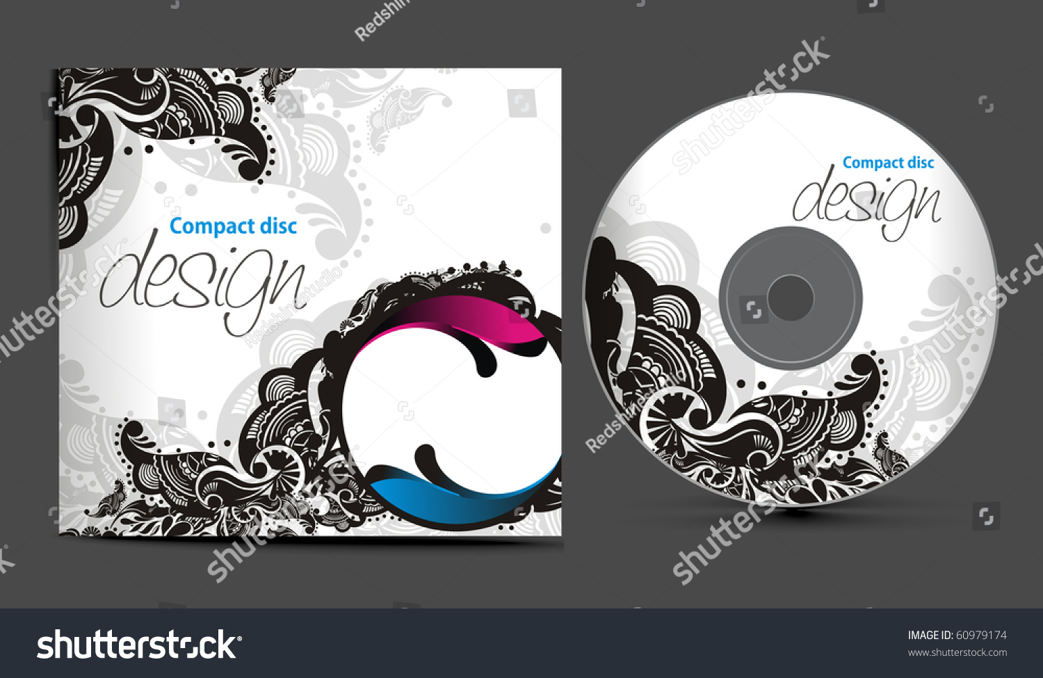 vector cd cover design template copy stock vector 60979174 shutterstock. Black Bedroom Furniture Sets. Home Design Ideas
