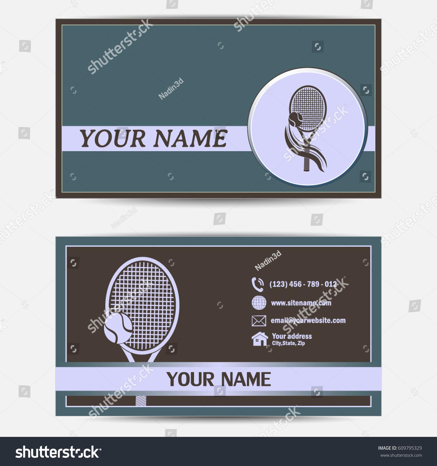 Business Cards Design Vector Illustrationtennis Club Stock Vector ...