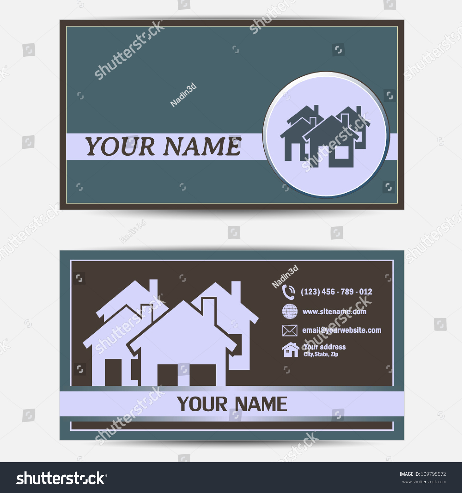 Business Cards Design Vector Illustration Group Stock Vector ...