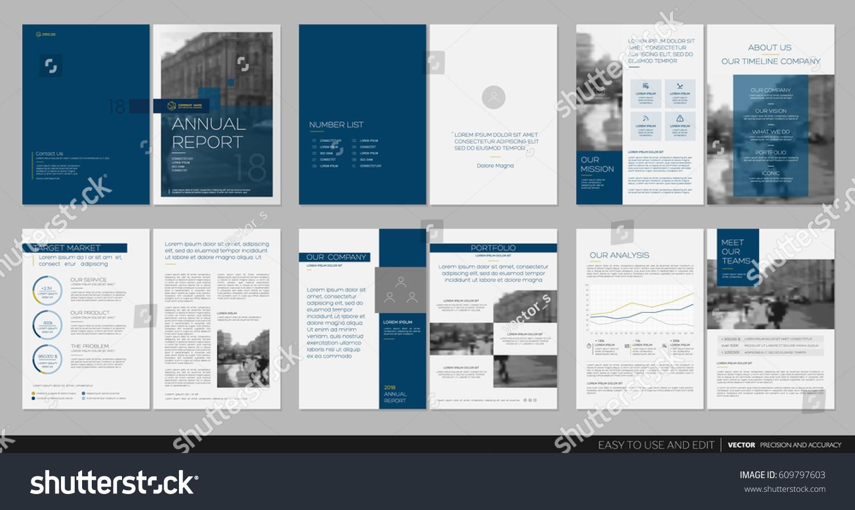 design annual report cover vector template のベクター画像素材