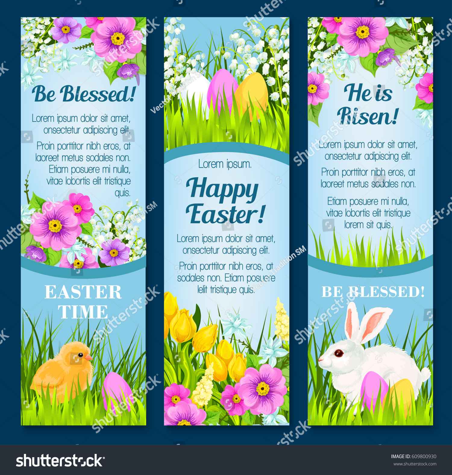 Happy Easter Greetings He Risen Be Stock Vector Royalty Free
