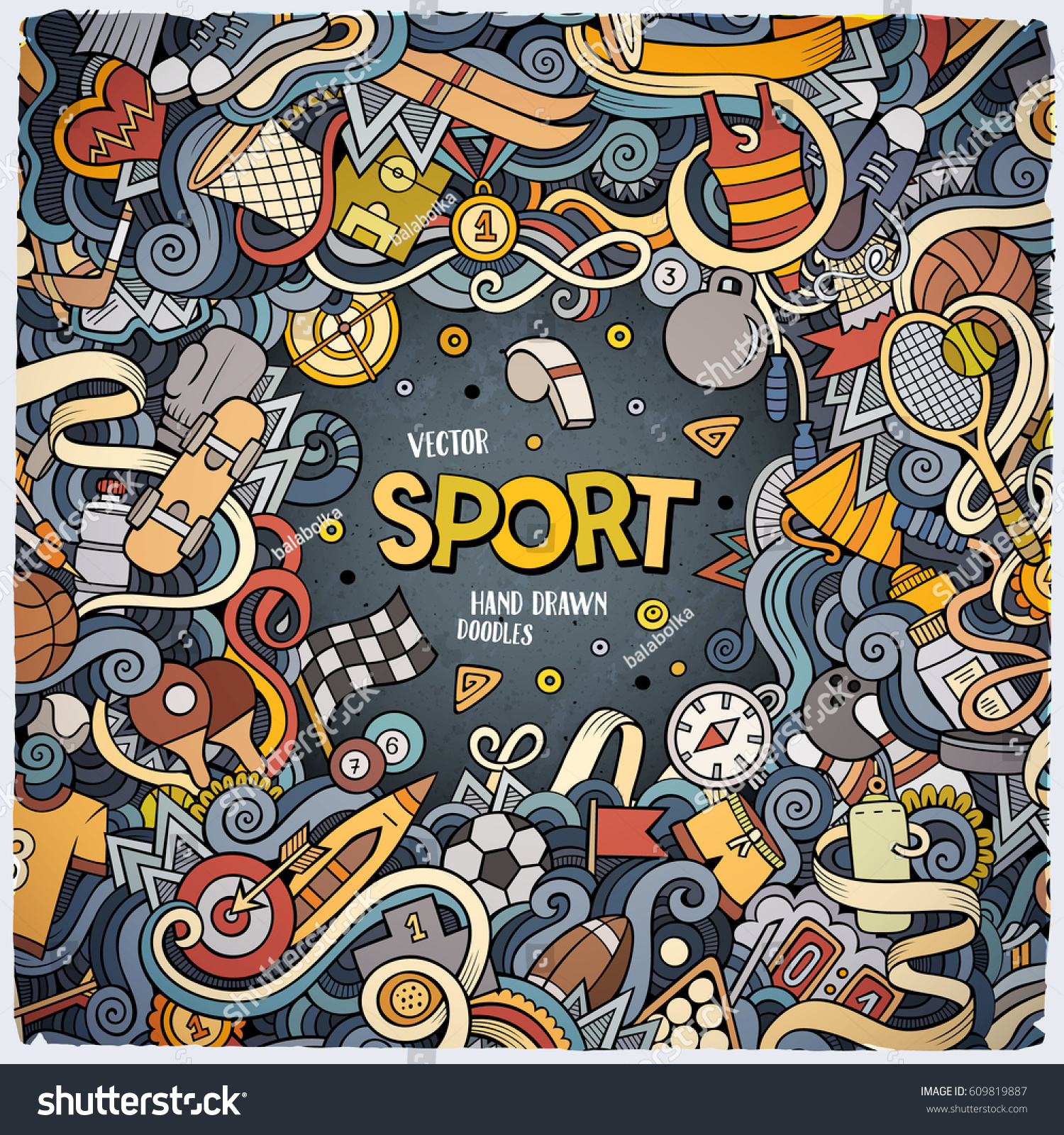 Colorful sports cartoons
