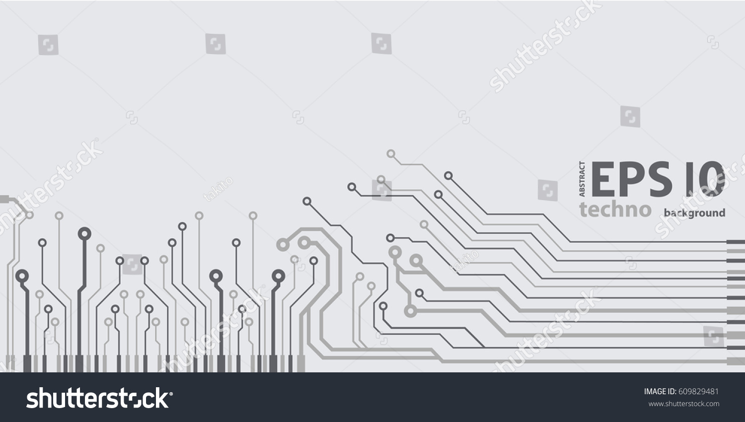 Vector Flat Circuit Board Illustration Stock Royalty Diagram Microchip Background