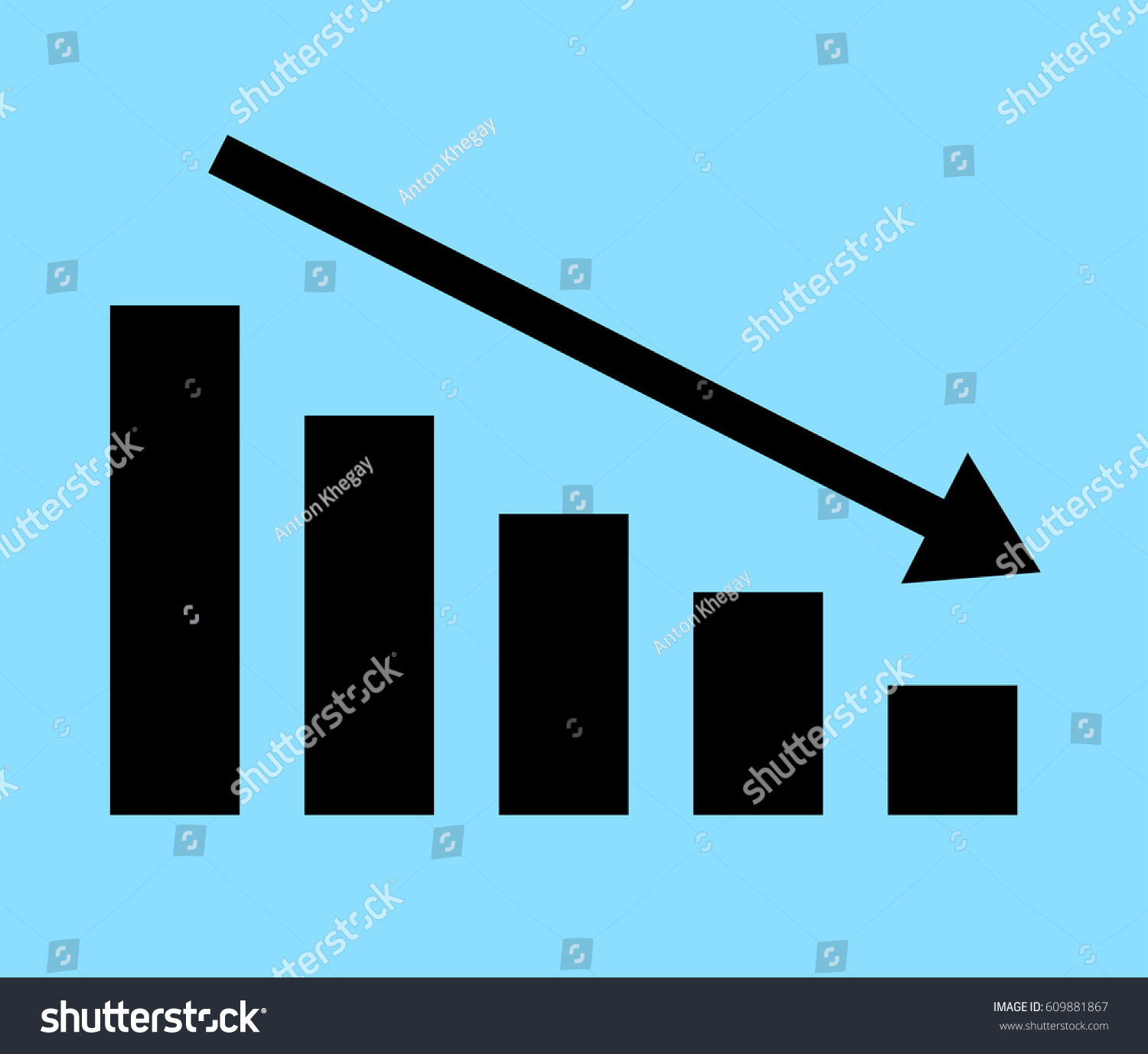 Downward graph symbol vector icons all stock vector 609881867 downward graph symbol vector icons for all projects biocorpaavc Gallery