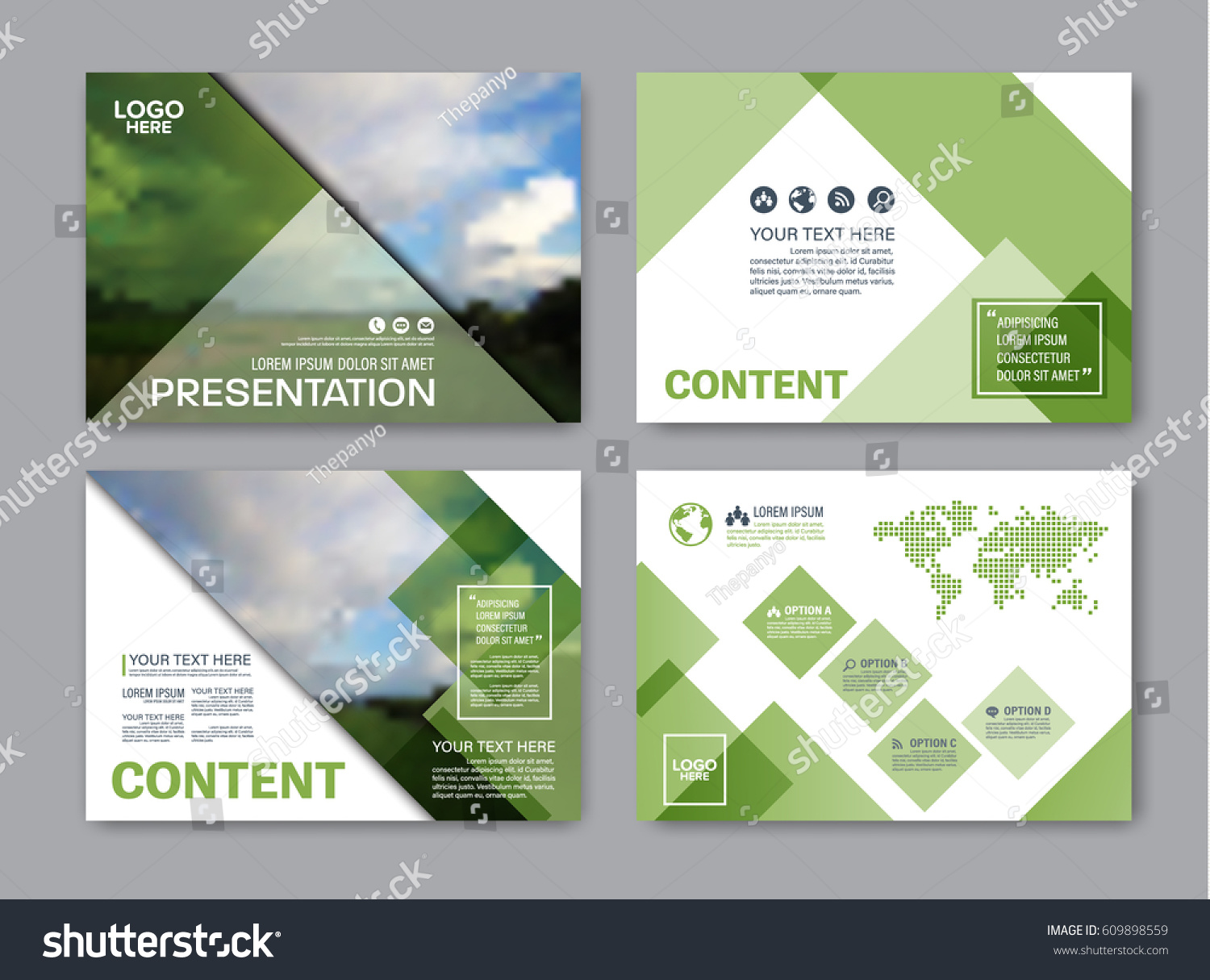 set presentation layout design template powerpoint stock vector, Presentation templates