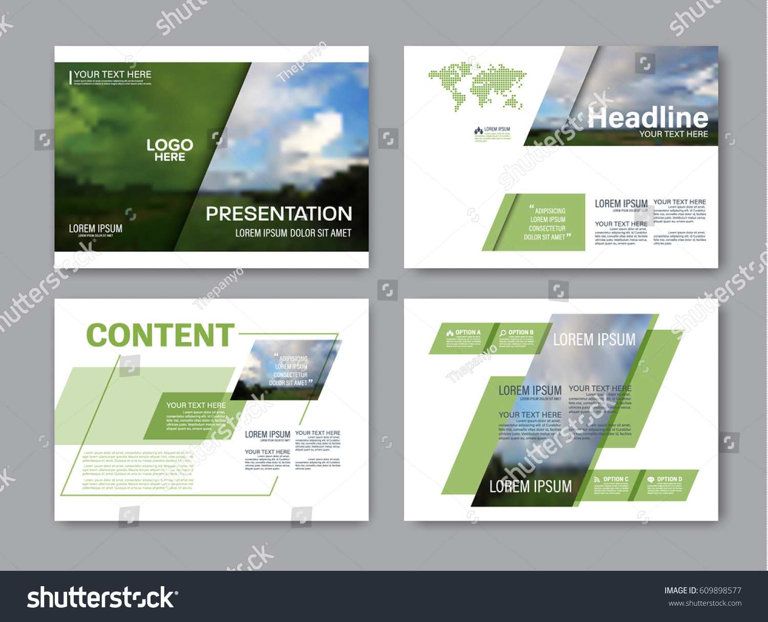 Set presentation layout design template powerpoint stock for Setting up a powerpoint template
