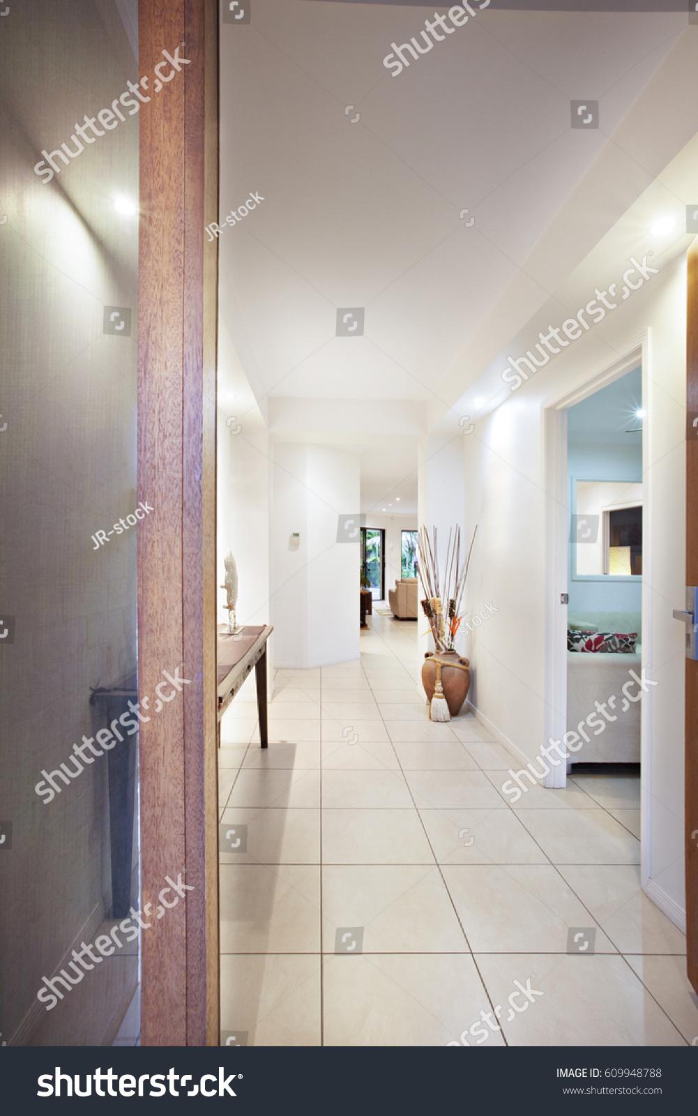 Apartment Hall Entrance Ceramic Tiles Comfortable Stock Photo Edit